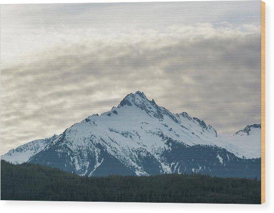 Tantalus Mountain Range Closeup Wood Print