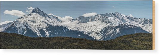 Wood Print featuring the photograph Tantalus Mountain Range On The Sea To Sky by Pierre Leclerc Photography