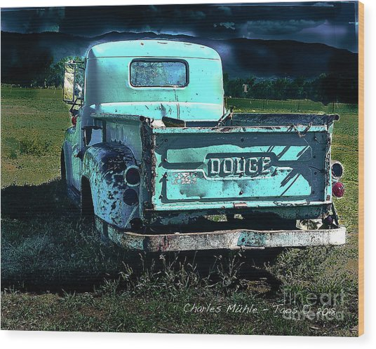 Taos Dodge Wood Print