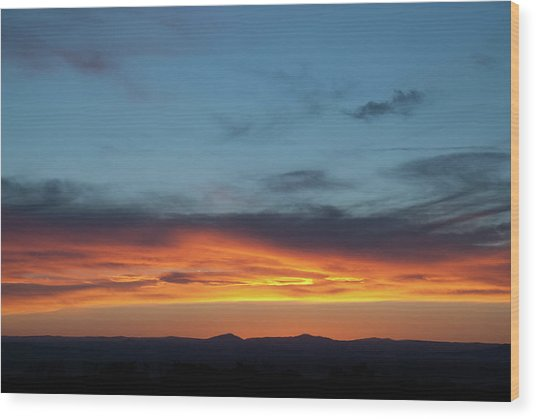 Taos Mesa Sunset Wood Print