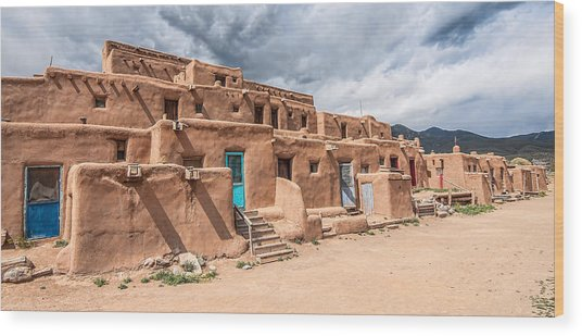 Taos Pueblo New Mexico Wood Print