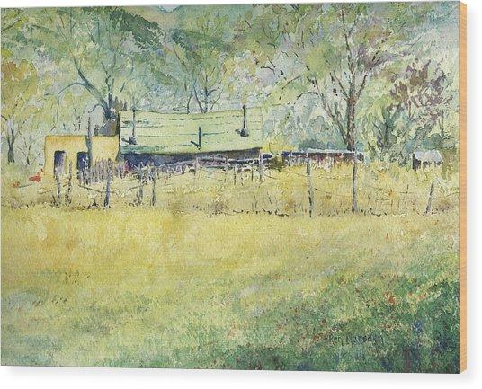 Taos Ranch Wood Print