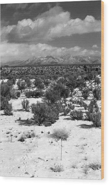 Taos Snowfall Wood Print by Susan Chandler