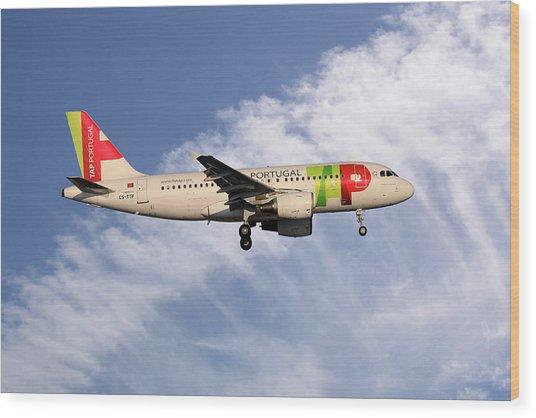 Tap Portugal Airbus A319-111 Wood Print