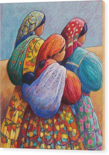 Tarahumara Women Wood Print by Candy Mayer