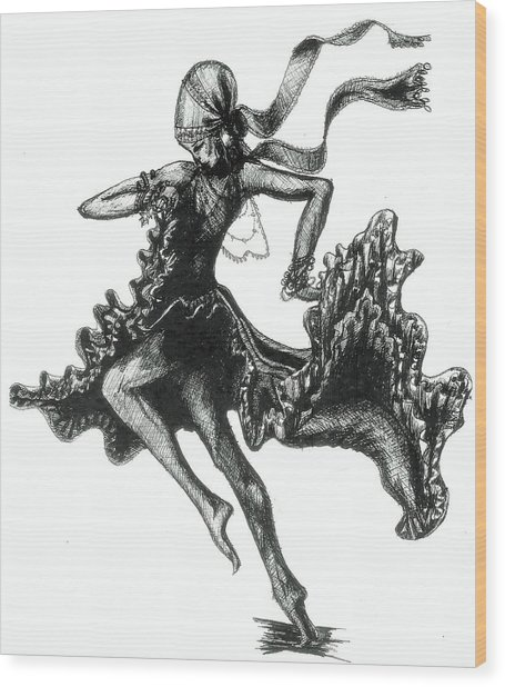 Tarantella Wood Print by Yvonne Ayoub