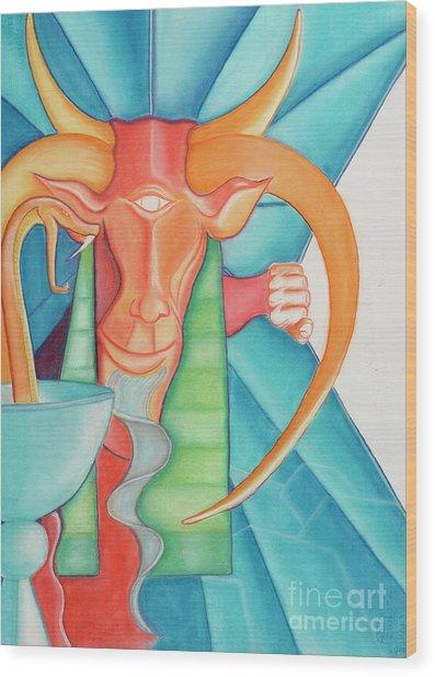 Tarot Devil Wood Print