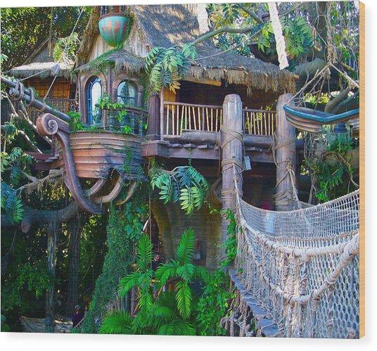 Tarzan Treehouse Wood Print