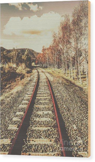 Tasmanian Country Tracks Wood Print