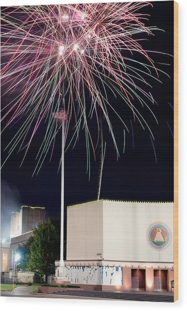 Taste Of Dallas 2015 Fireworks Wood Print