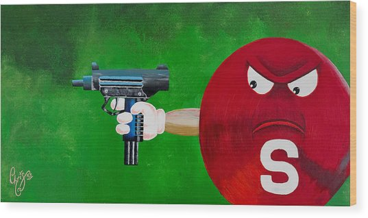 Taste The Rainbow Of Bullets Bitch Part 2 Wood Print by Chris  Fifty-one