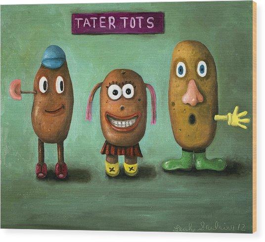 Tater Tots Wood Print