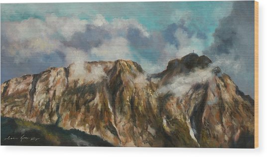 Tatry Mountains- Giewont Wood Print