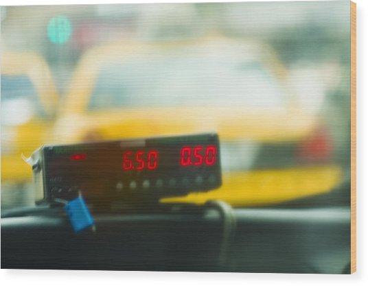 Taxi Meter Wood Print