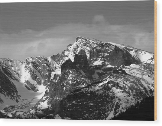 Taylor Peak Wood Print