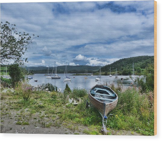 Tayvallich Harbour Wood Print