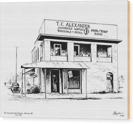 Tc Alexander Store Wood Print