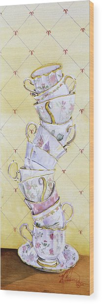 Tea - Ter Totter Wood Print by Leah Wiedemer