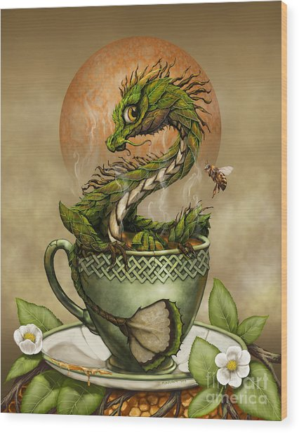 Tea Dragon Wood Print