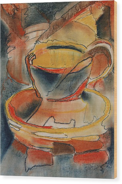 Tea For One - Korea Midnight Series Wood Print by Shirley McMahon