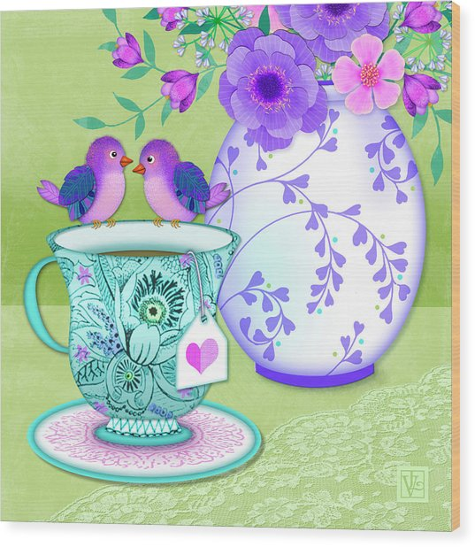 Tea For Two Wood Print