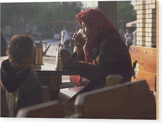 Tea In Tashkent Wood Print