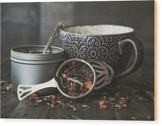Tea Time 8312 Wood Print