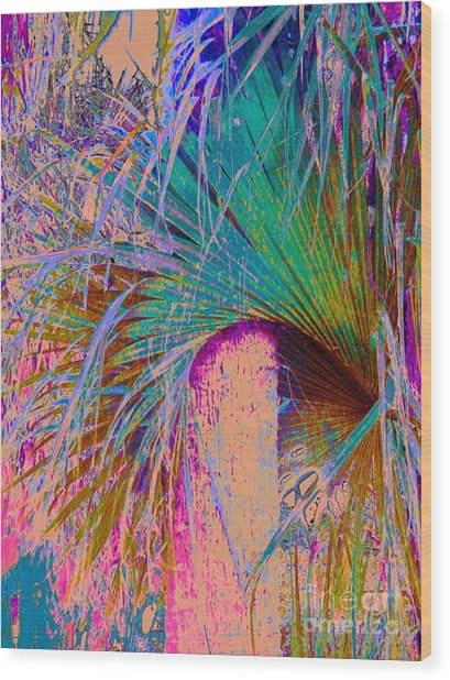 Techni Frond Wood Print