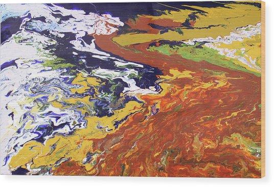 Tectonic Wood Print