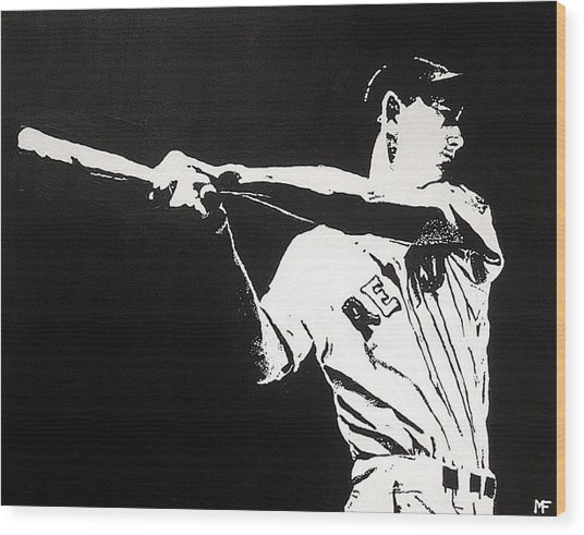 Ted Wood Print by Matthew Formeller