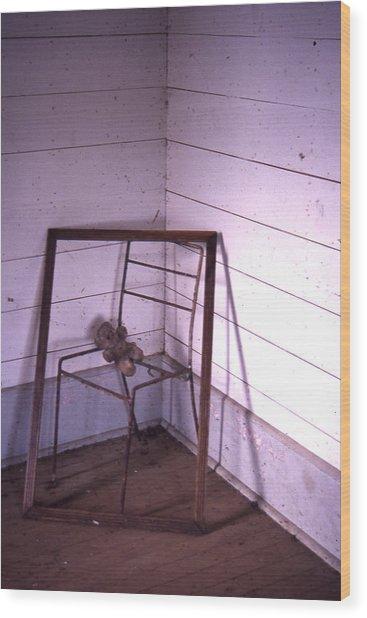 Teddy-bear Chair Corner Wood Print by Curtis J Neeley Jr