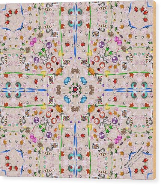 Wood Print featuring the digital art Teddy Bear Tears 1488k4 by Brian Gryphon