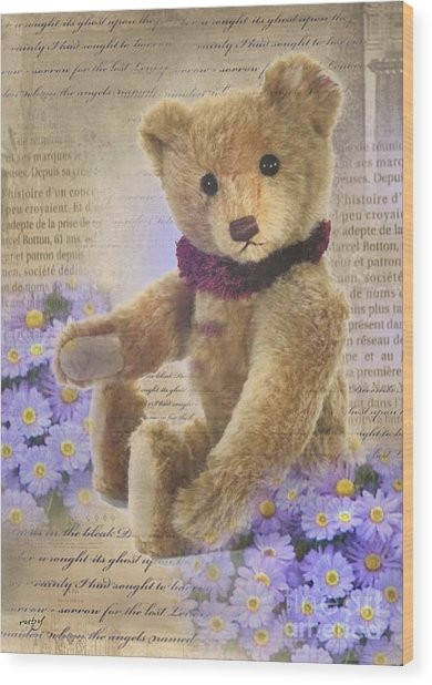 Teddy Bear Time Wood Print
