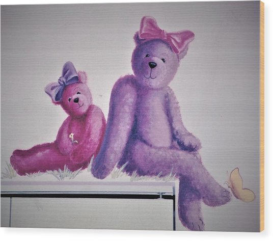 Teddy's Day Wood Print