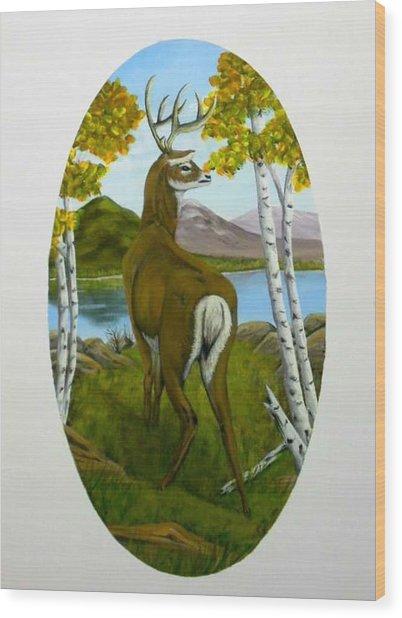Teddy's Deer Wood Print
