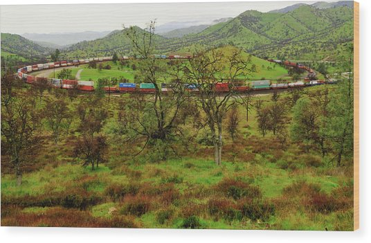 Tehachapi Train Loop Wood Print