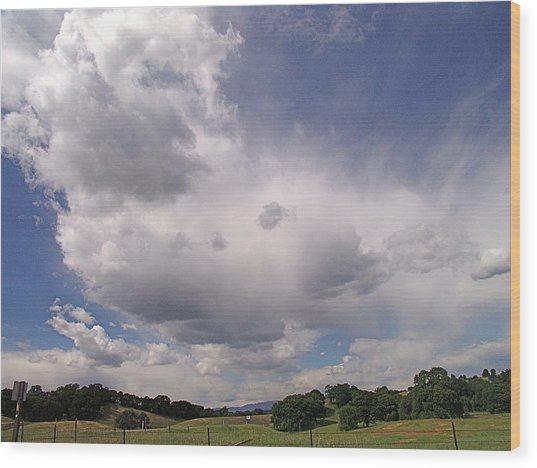 Tehama Clouds Wood Print