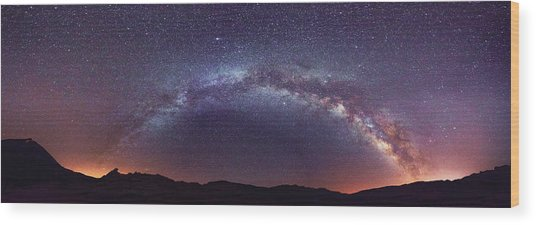 Teide Milky Way Wood Print