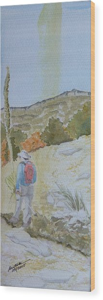 Tejas Trail Doodle Wood Print