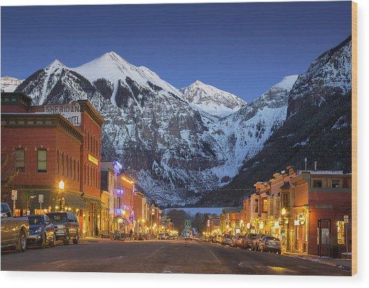 Telluride Main Street 3 Wood Print
