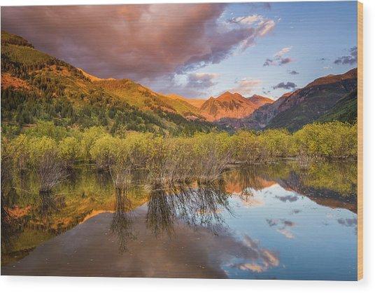Telluride Valley Floor 2 Wood Print