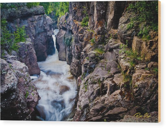 Temperance River Gorge Wood Print