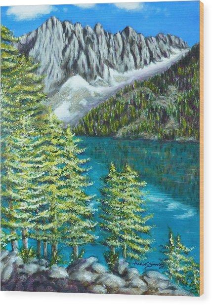 Temple Crag Wood Print