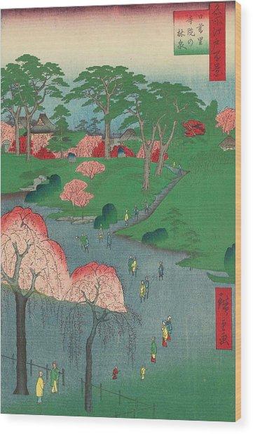 Temple Gardens, Nippori Wood Print