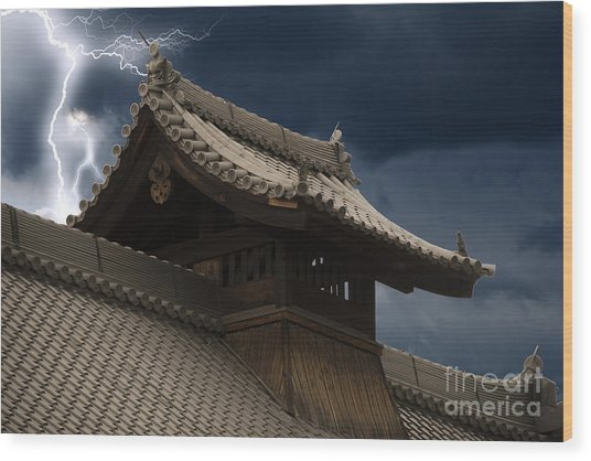 Temple In The Sky Wood Print