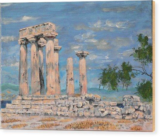 Temple Of Apollo  Wood Print by Dan Bozich