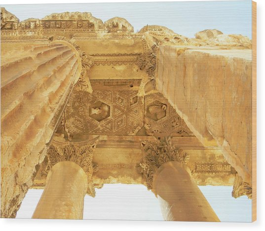 Temple Of Bacchus Wood Print