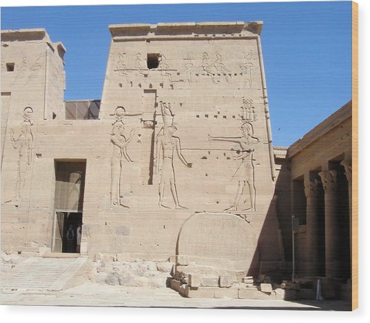Temple Of Isis At Philae Wood Print