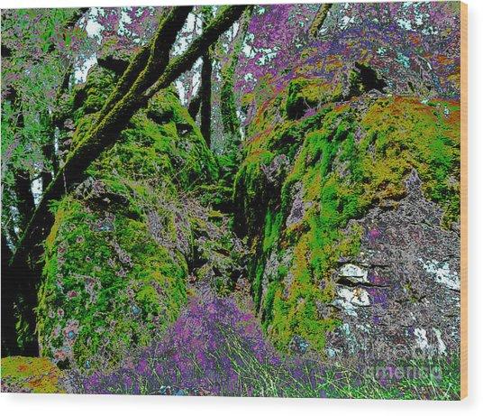 Temple Of Joy Wood Print by JoAnn SkyWatcher