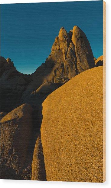 Temple Rock, Joshua Tree, Sunrise Wood Print